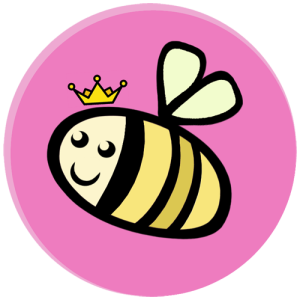 hive five banner with a bee wearing a crown